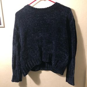 Navy Chenille Sweater